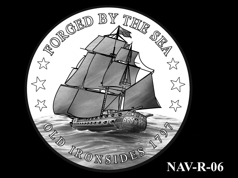 NAV-R-06 -- 2021 United States Navy Silver Medal  - Reverse