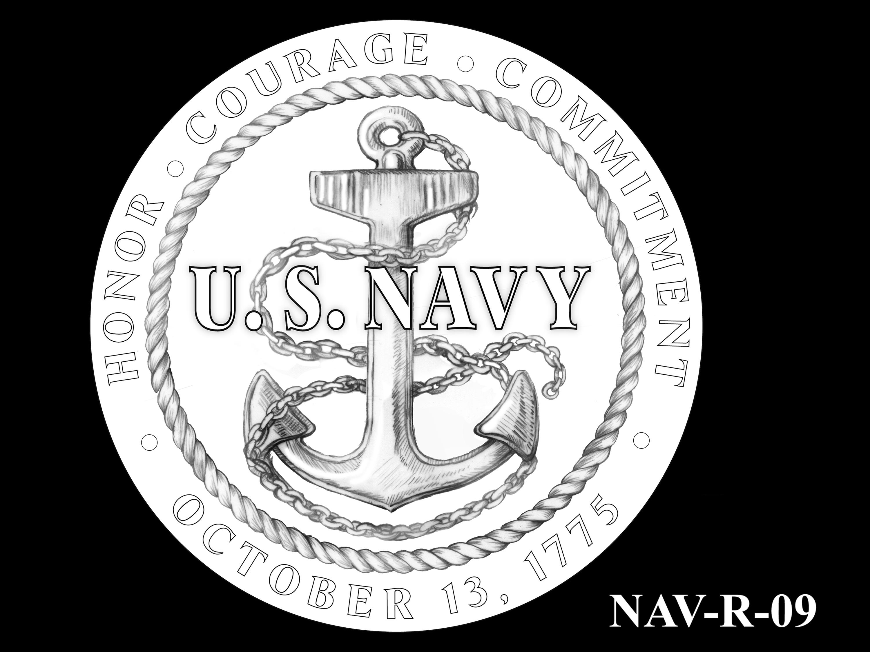 NAV-R-09 -- 2021 United States Navy Silver Medal  - Reverse
