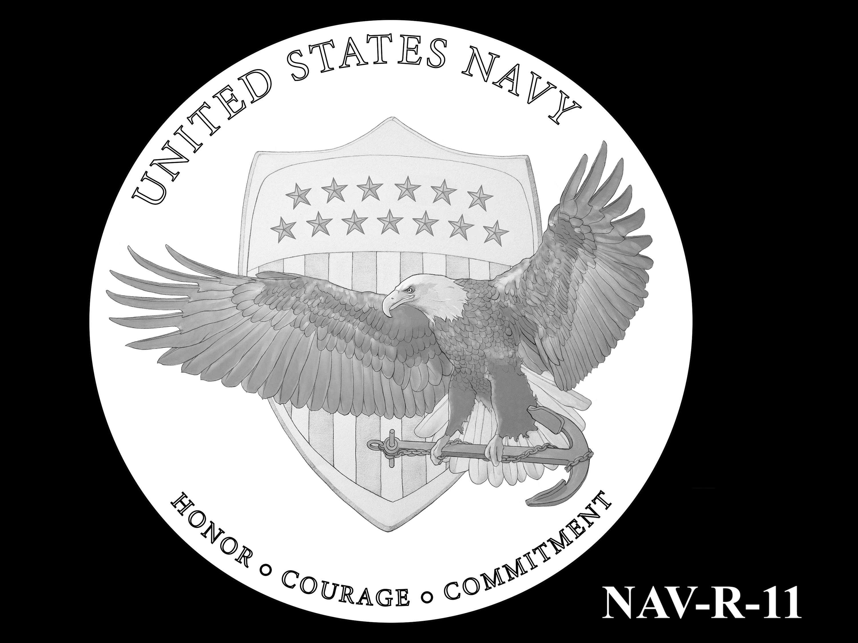 NAV-R-11 -- 2021 United States Navy Silver Medal  - Reverse