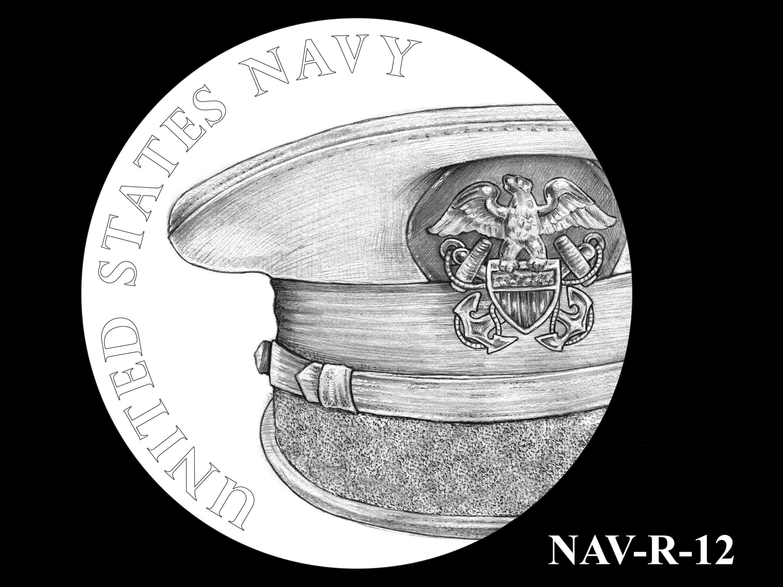 NAV-R-12 -- 2021 United States Navy Silver Medal  - Reverse