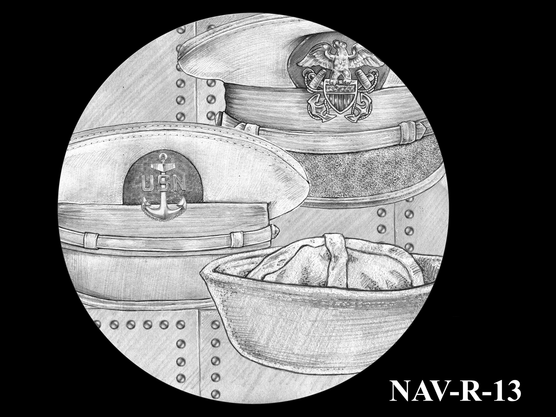 NAV-R-13 -- 2021 United States Navy Silver Medal  - Reverse