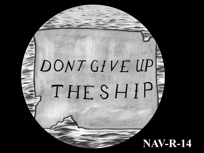 NAV-R-14 -- 2021 United States Navy Silver Medal  - Reverse