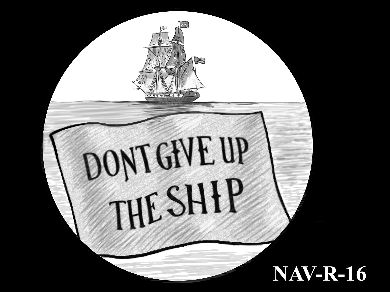 NAV-R-16 -- 2021 United States Navy Silver Medal  - Reverse