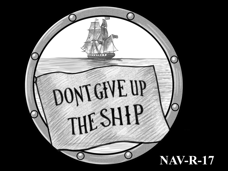 NAV-R-17 -- 2021 United States Navy Silver Medal  - Reverse