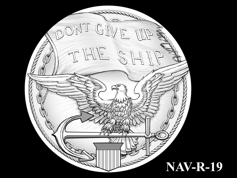 NAV-R-19 -- 2021 United States Navy Silver Medal  - Reverse