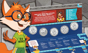 2019 Youth Coin and Currency Set with Eli the Fox