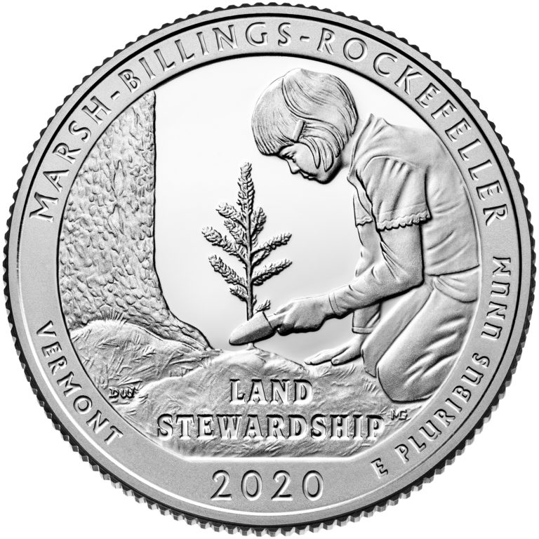 2020 America the Beautiful Quarters Coin Marsh-Billings-Rockefeller Vermont Proof Reverse