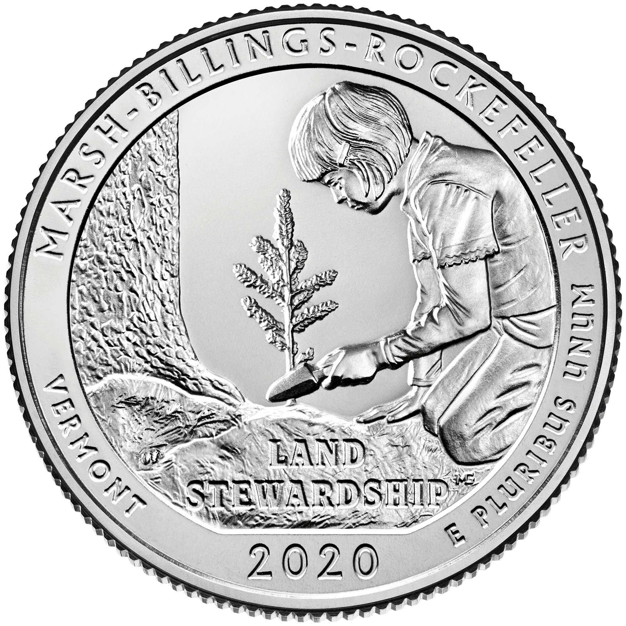 2020 America the Beautiful Quarters Coin Marsh-Billings-Rockefeller Vermont Uncirculated Reverse
