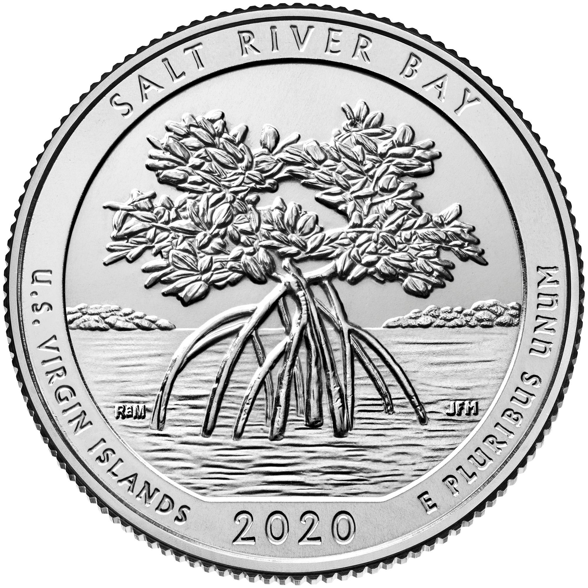 2020 America the Beautiful Quarters Coin Salt River Bay U.S. Virgin Islands Uncirculated Reverse