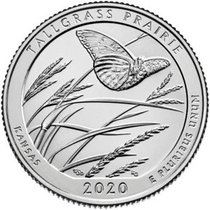 2020 America the Beautiful Quarters Coin Tallgrass Prairie Kansas Uncirculated Reverse