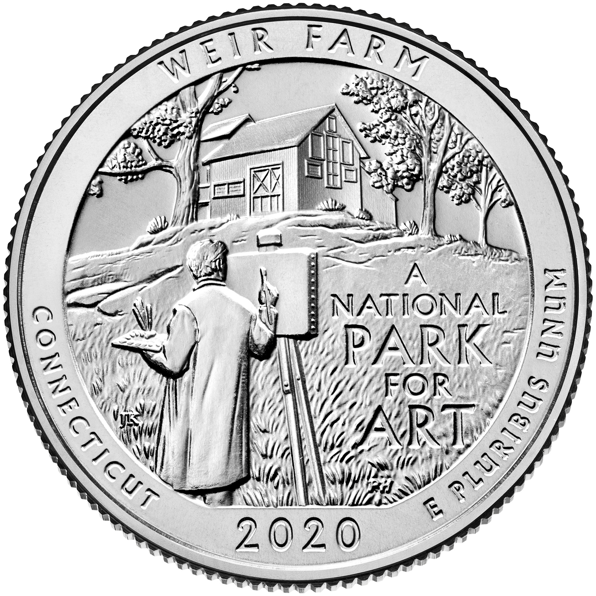 CT 2020 P/&D WEIR FARM NATIONAL HISTORIC TWO UNCIRCULATED QUARTERS SET