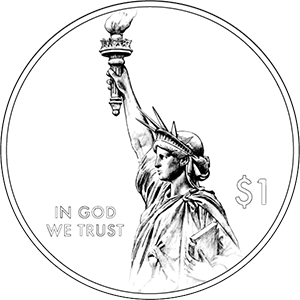 american innovation $1 coin obverse