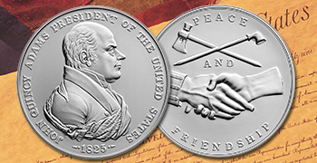 John Quincy Adams Presidential Silver Medal feature