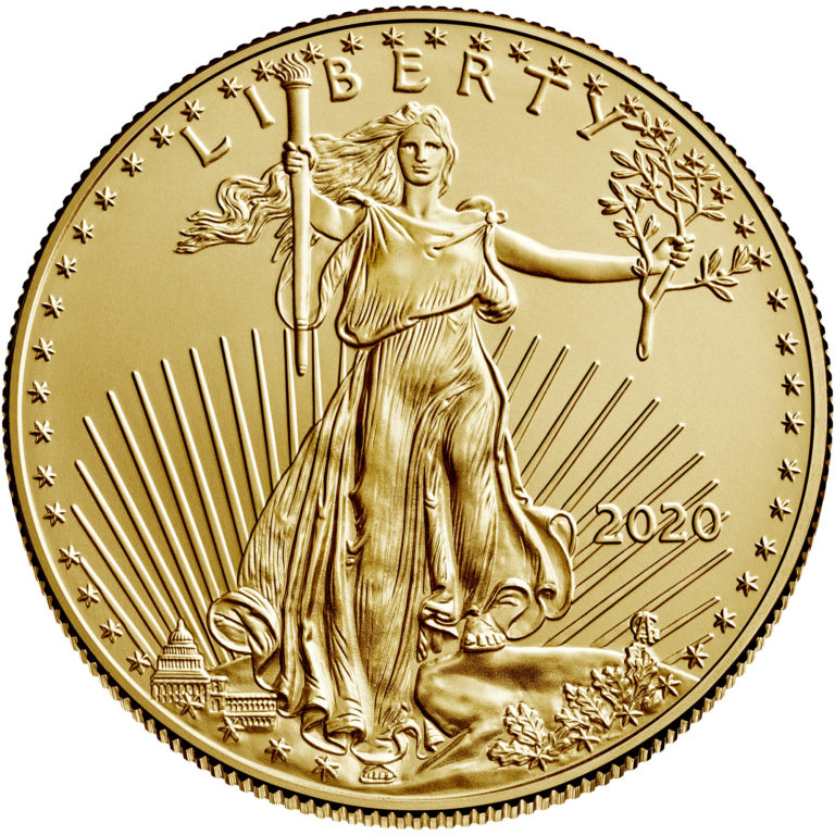 2020 American Eagle Gold One Ounce Bullion Coin Obverse