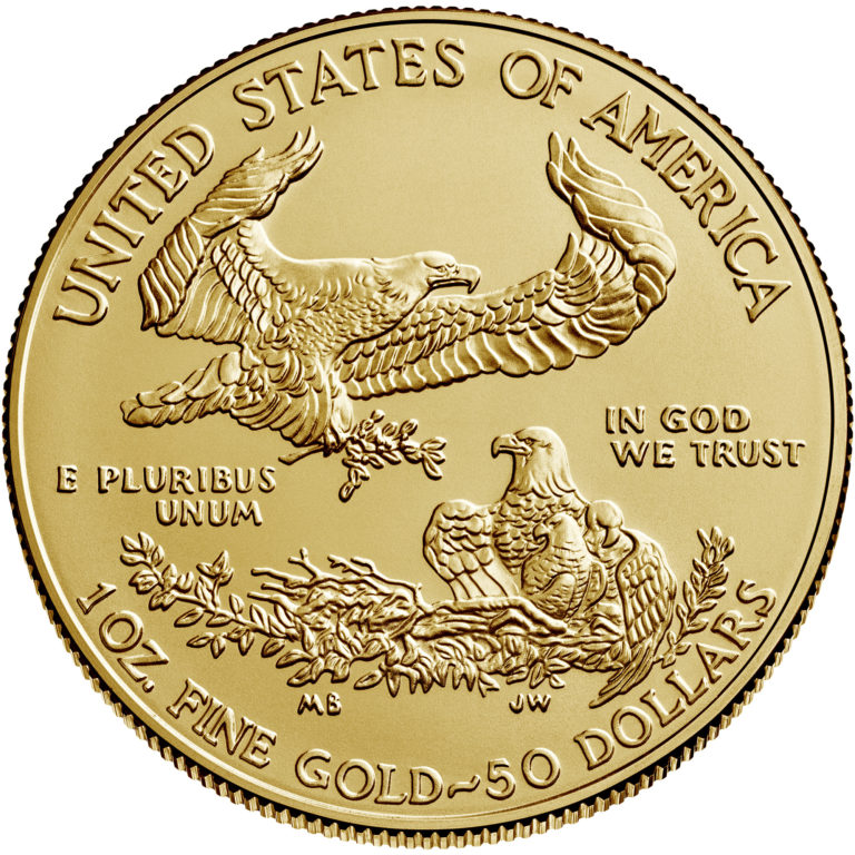 2020 American Eagle Gold One Ounce Bullion Coin Reverse