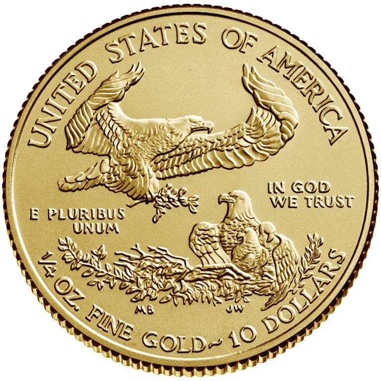 2020 American Eagle Gold One Quarter Ounce Bullion Coin Reverse