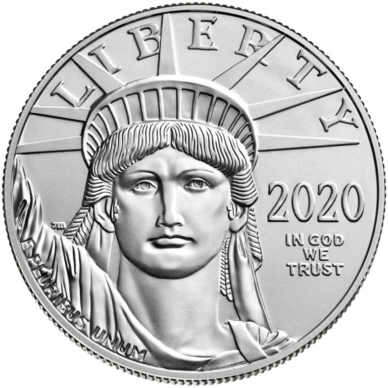 2020 American Eagle Platinum One Ounce Bullion Coin Obverse