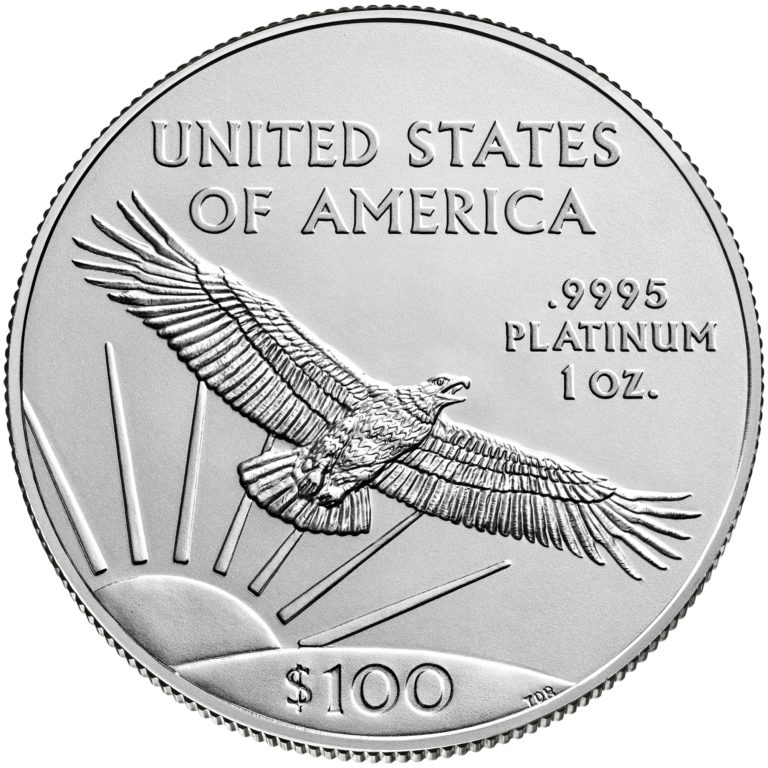 2020 American Eagle Platinum One Ounce Bullion Coin Reverse