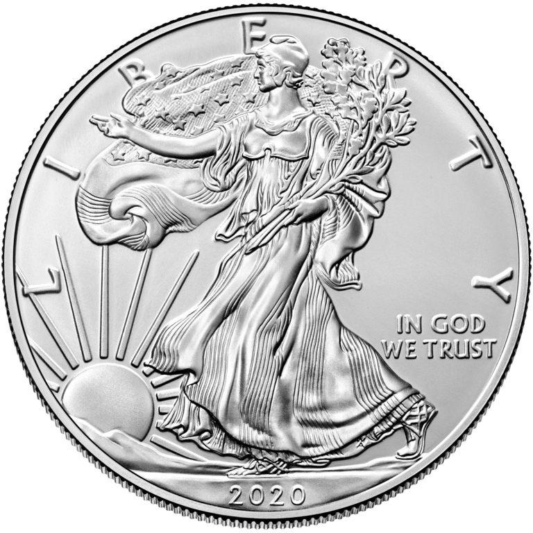 2020 American Eagle Silver One Ounce Bullion Coin Obverse
