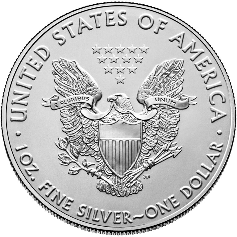 2020 American Eagle Silver One Ounce Bullion Coin Reverse