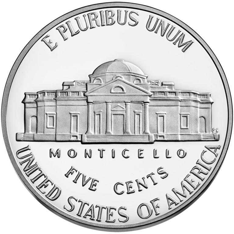 2020 Jefferson Nickel Proof Reverse