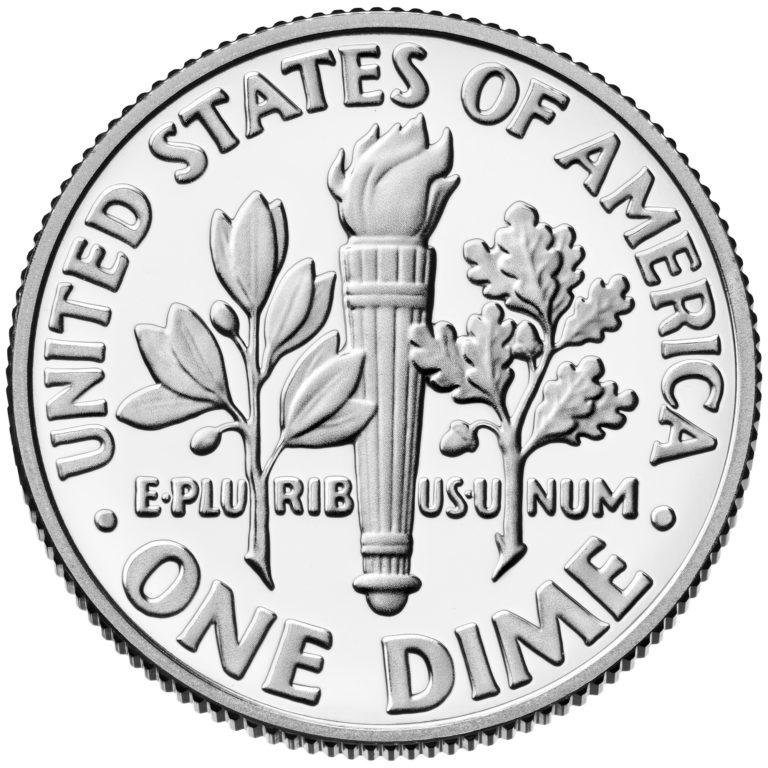 2020 Roosevelt Dime Proof Reverse