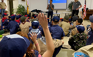Scouts event homepage feature