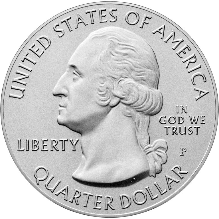 2020 America the Beautiful Quarters Five Ounce Silver Uncirculated Coin Obverse