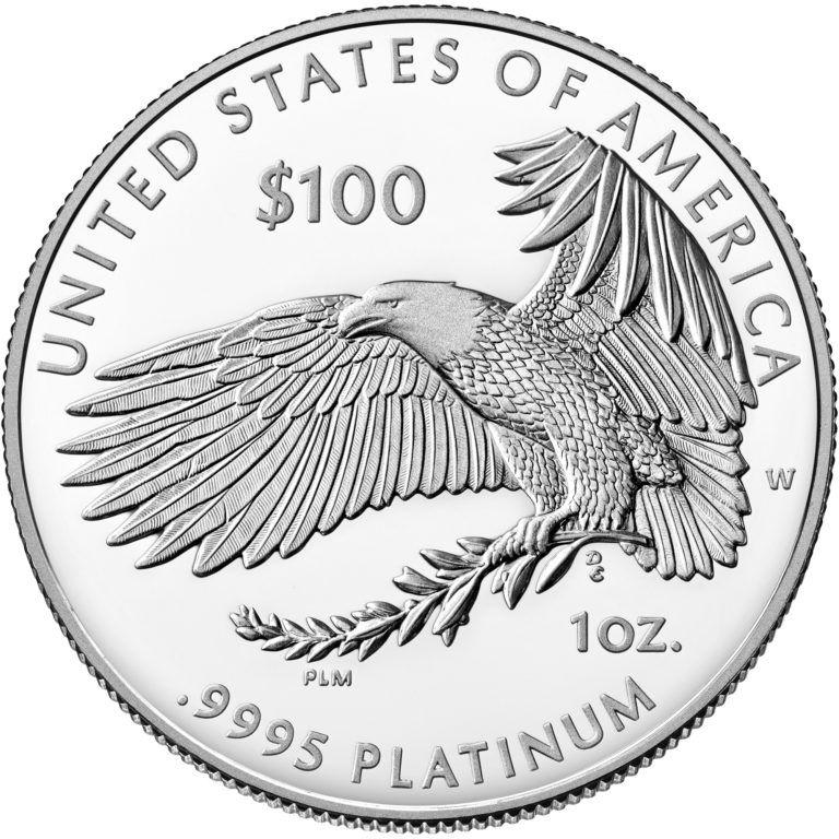 2020 American Eagle Platinum One Ounce Proof Coin Reverse