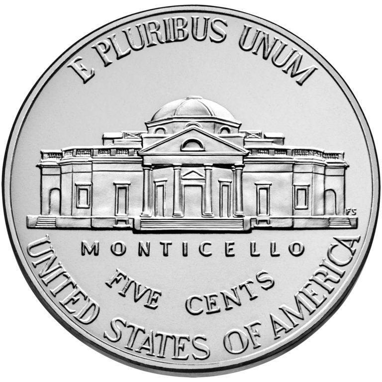 2020 Jefferson Nickel Uncirculated Reverse