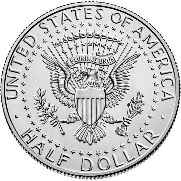 2020 Kennedy Half Dollar Uncirculated Reverse