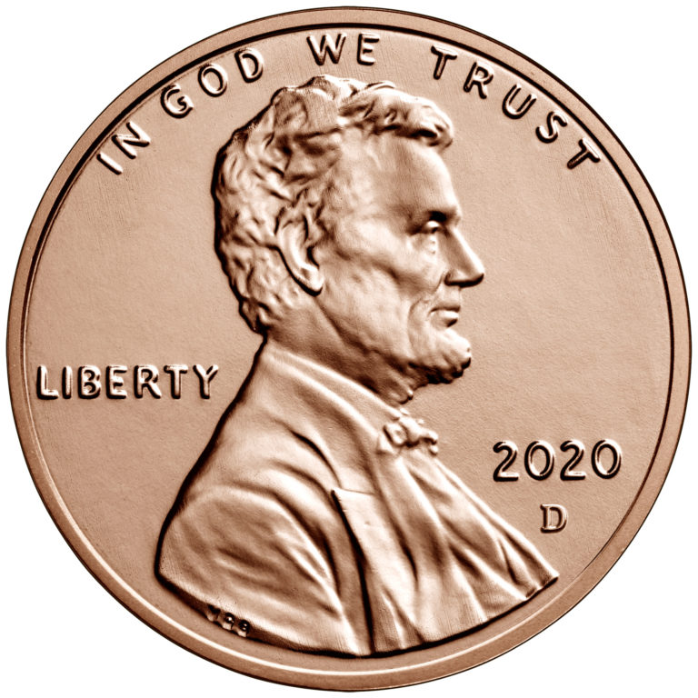 2020 Lincoln Penny Uncirculated Obverse Denver