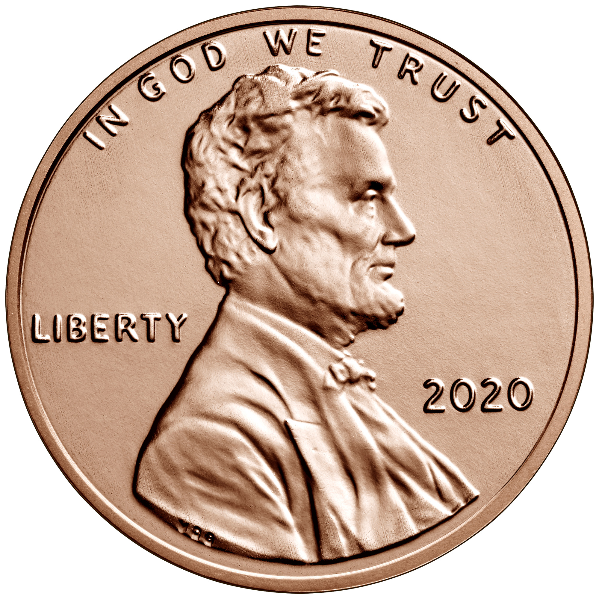 2020 Lincoln Penny Uncirculated Obverse Philadelphia