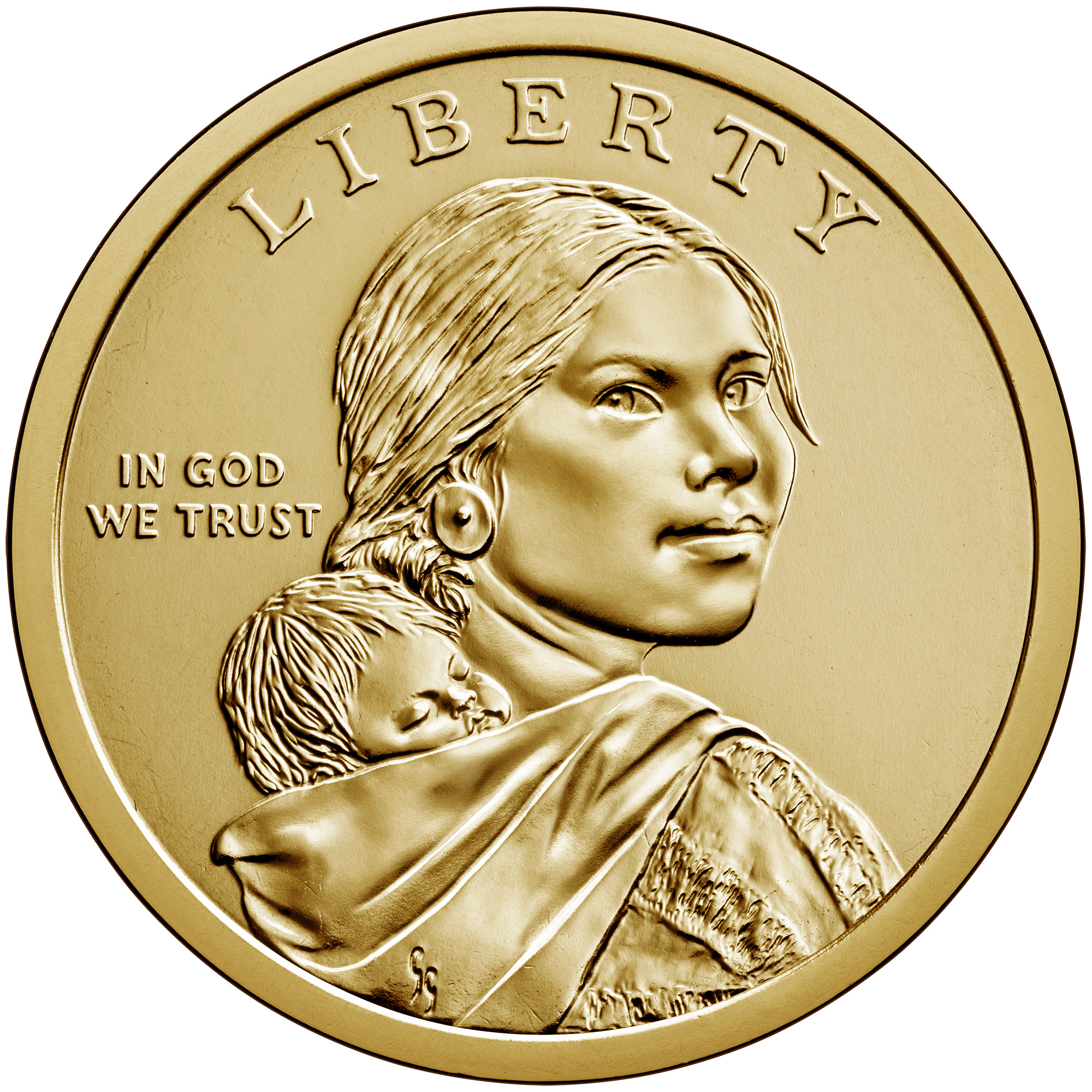 2020 Native American One Dollar Uncirculated Coin Obverse