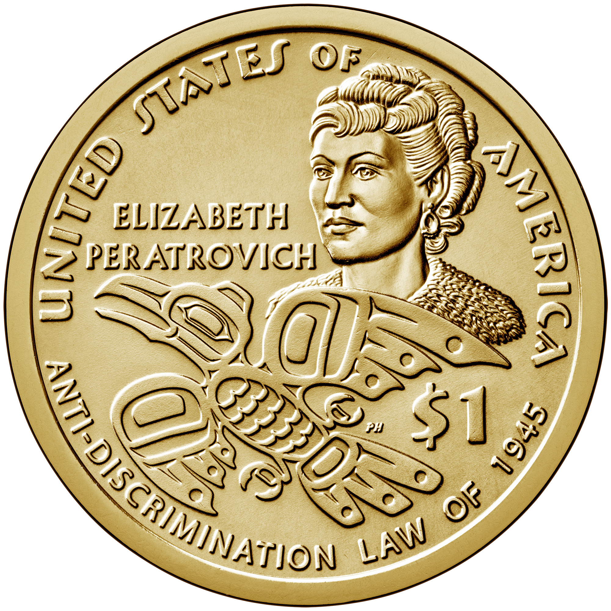 2020 Native American One Dollar Uncirculated Coin Reverse