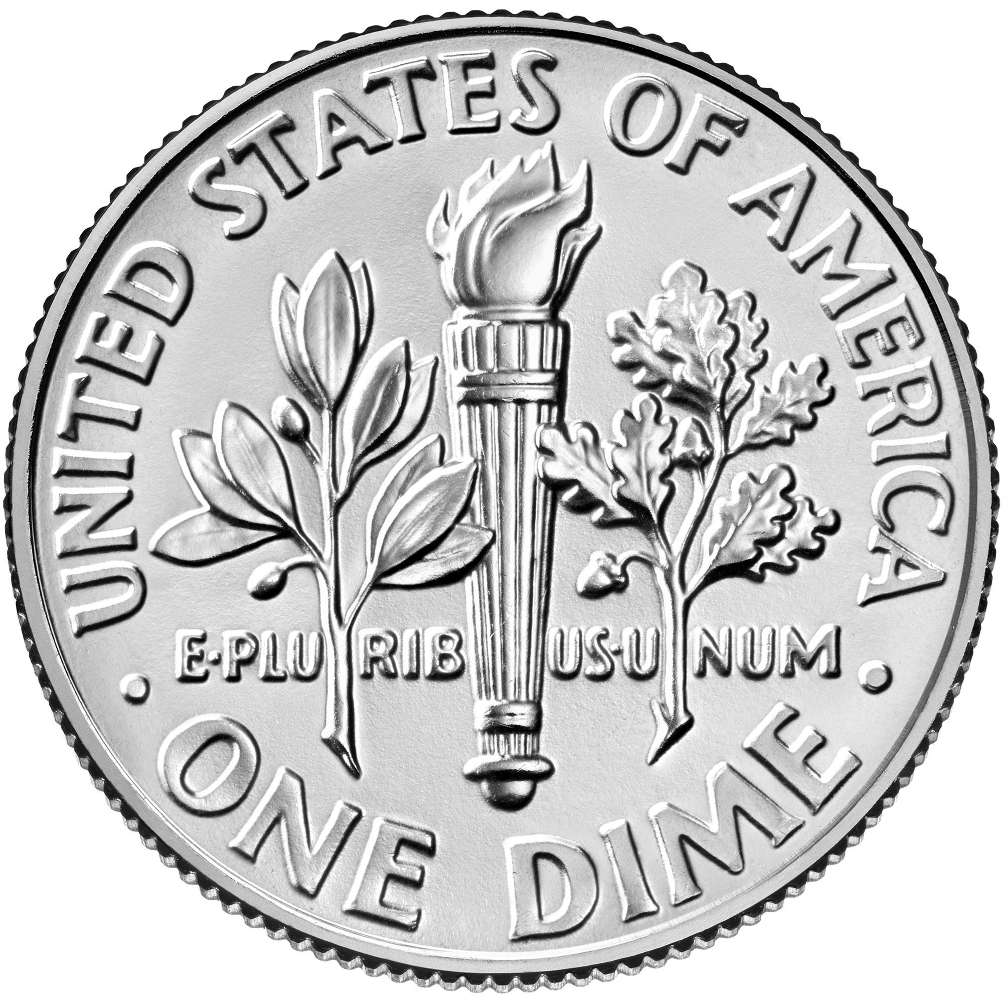 2020 Roosevelt Dime Uncirculated Reverse