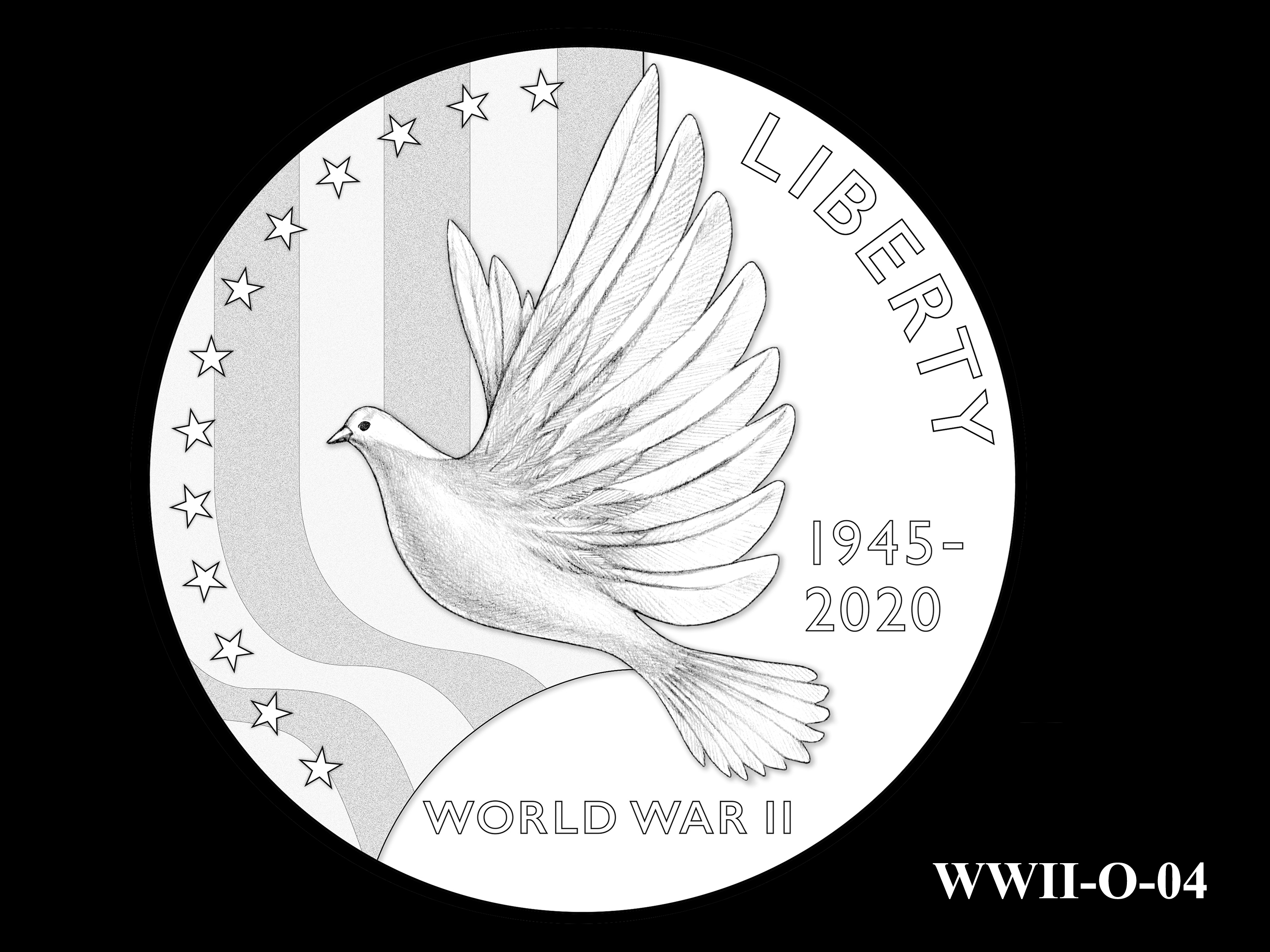 WWII-O-04 --End of World War II 75th Anniversary Program - Obverse