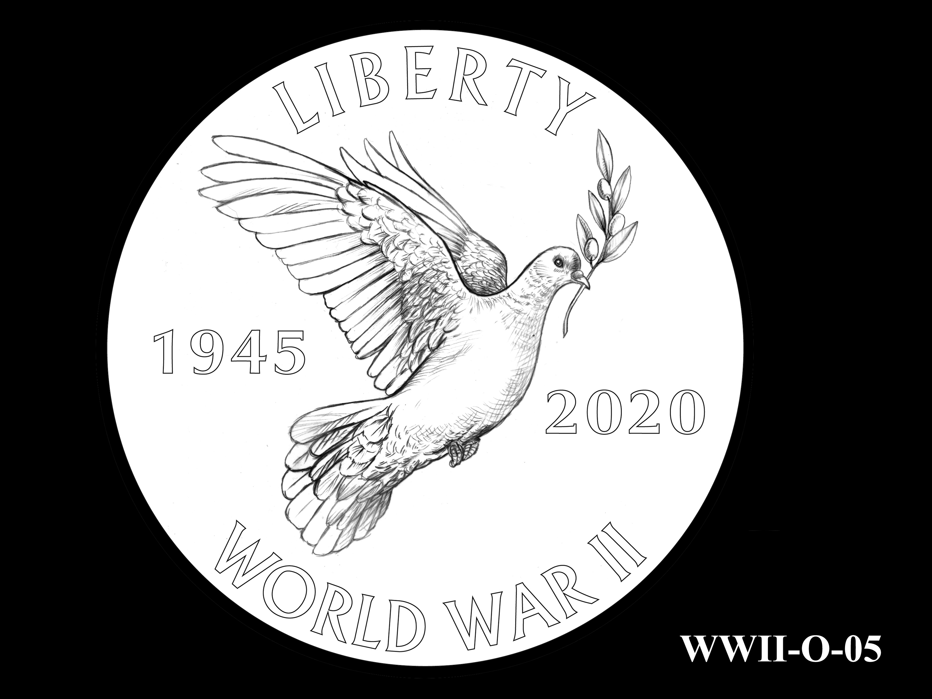 WWII-O-05 --End of World War II 75th Anniversary Program - Obverse