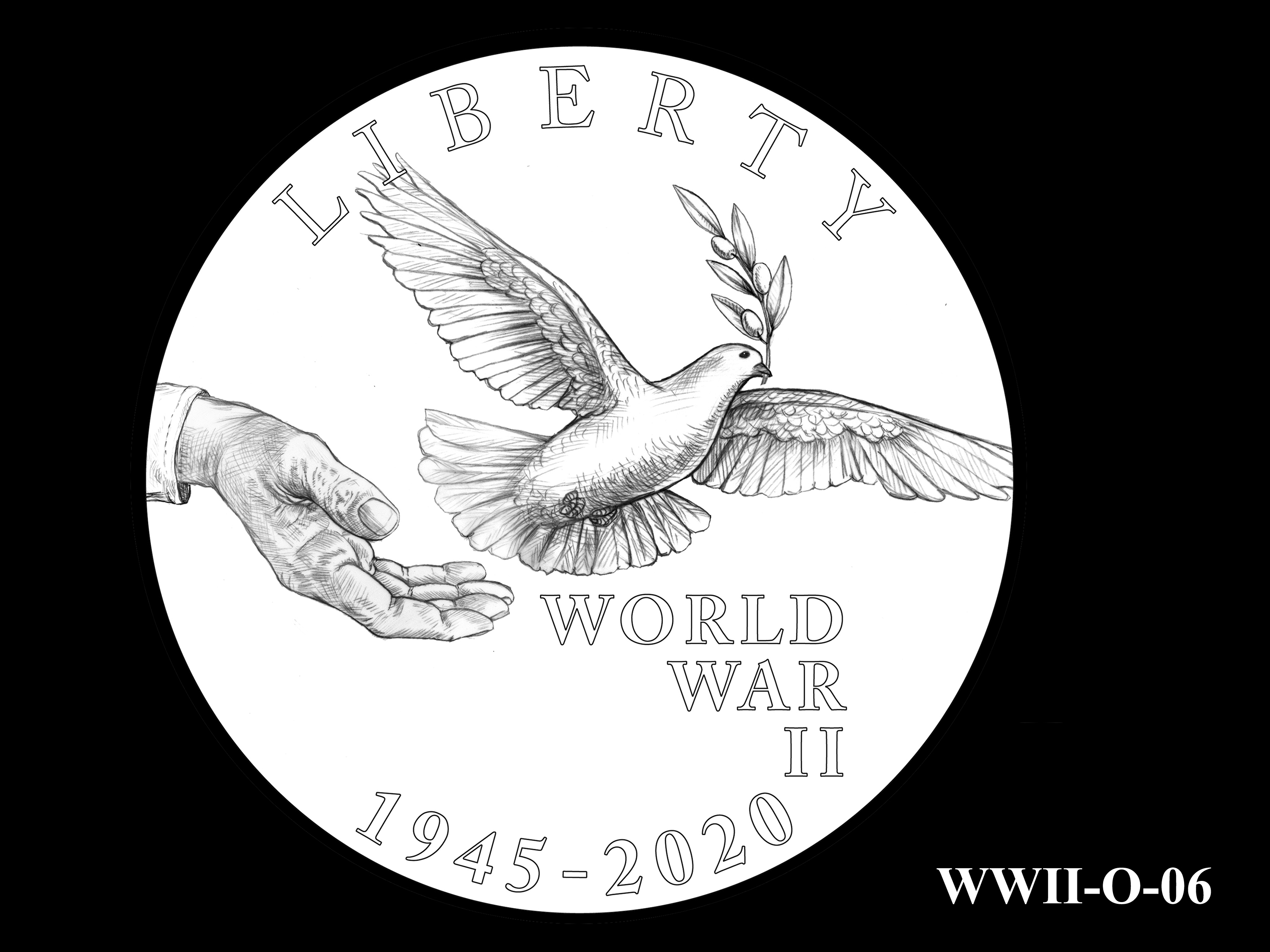 WWII-O-06 --End of World War II 75th Anniversary Program - Obverse