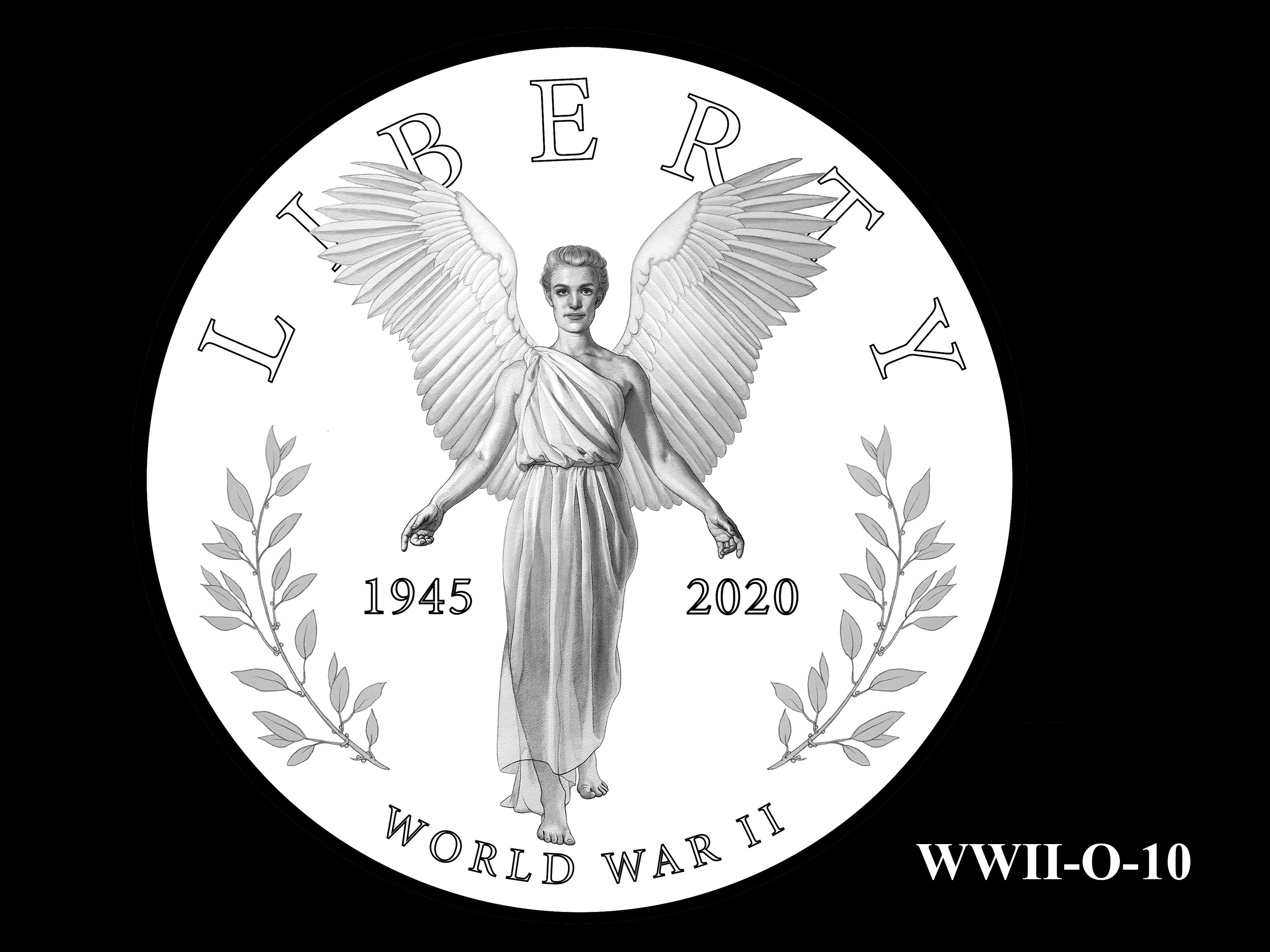 WWII-O-10 --End of World War II 75th Anniversary Program - Obverse
