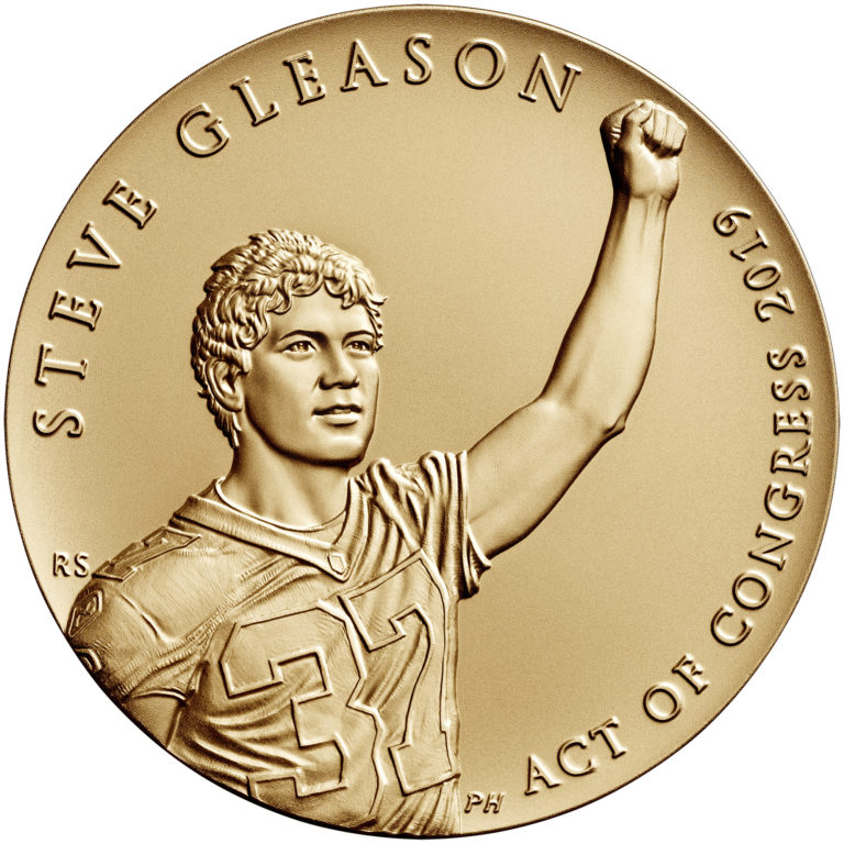 Steve Gleason Bronze Medal Three Inch Obverse