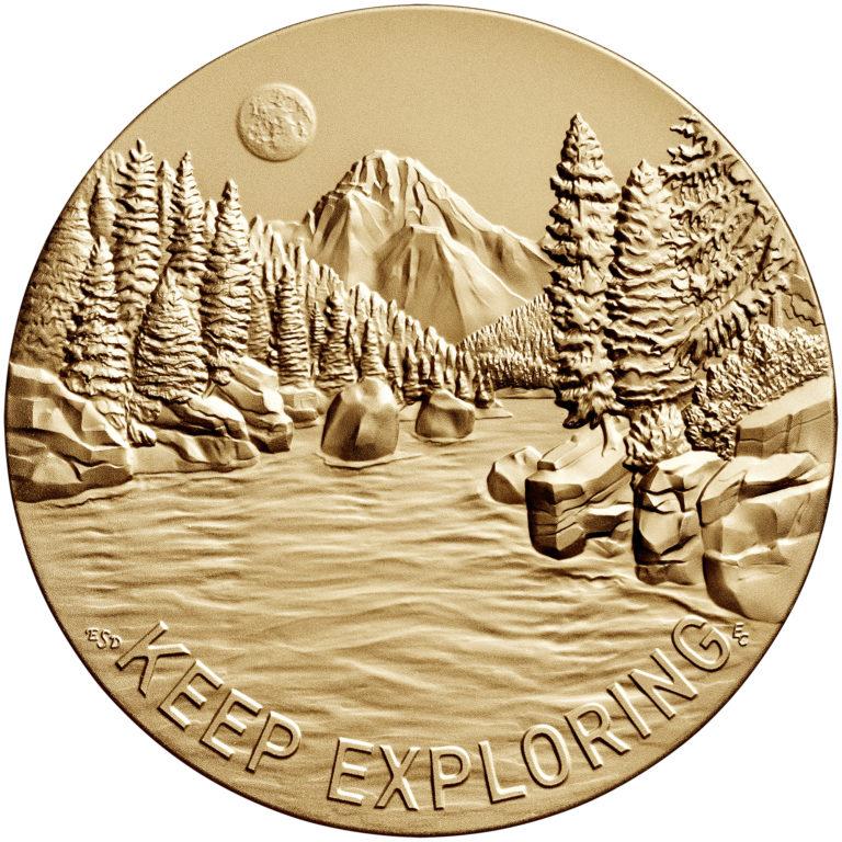 Steve Gleason Bronze Medal Three Inch Reverse