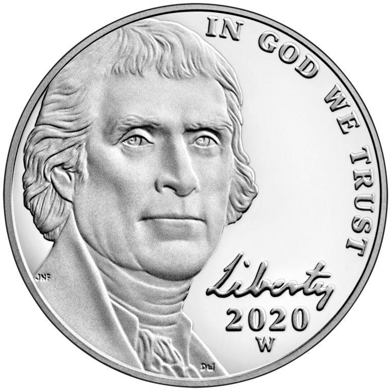 2020 Jefferson Nickel Proof Obverse West Point