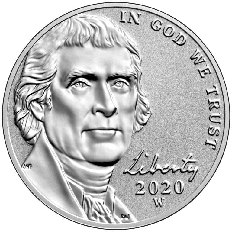 2020 Jefferson Nickel Reverse Proof Obverse West Point