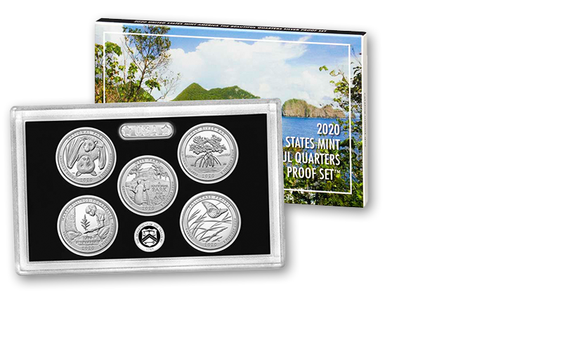 2020 America the Beautiful San Francisco proof set with packaging