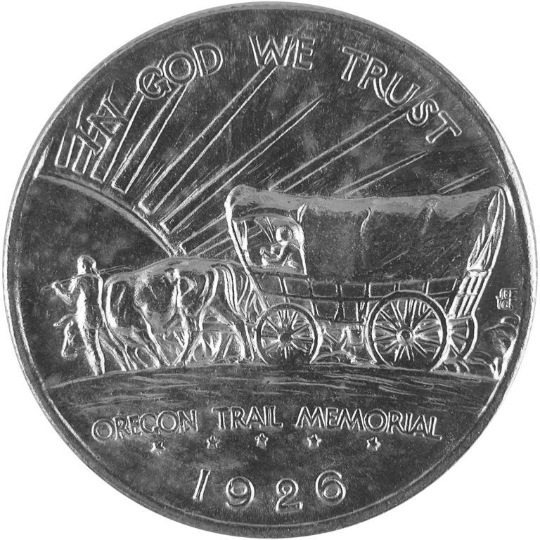 1926 Oregon Trail Memorial Commemorative Silver Half Dollar Coin Obverse