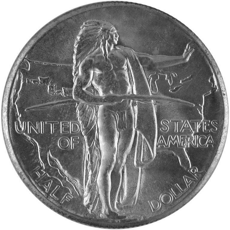 1926 Oregon Trail Memorial Commemorative Silver Half Dollar Coin Reverse