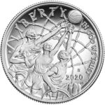 2020 Basketball Hall of Fame Commemorative Clad Half Dollar Proof Obverse