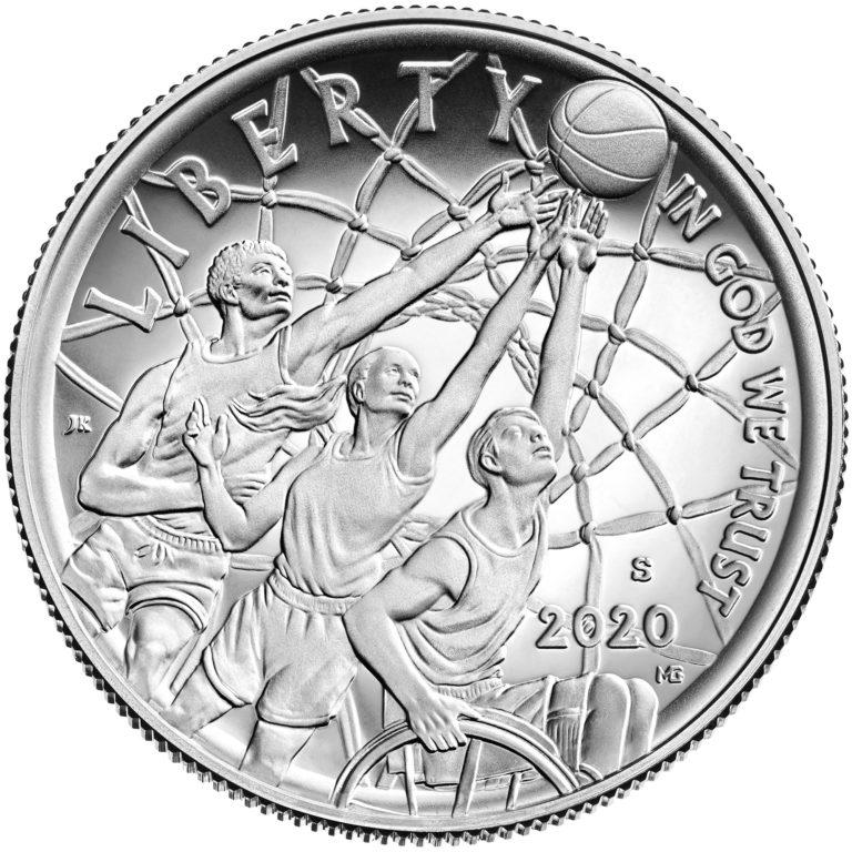 2020 Basketball Hall of Fame Commemorative Clad Half Dollar Proof Obverse