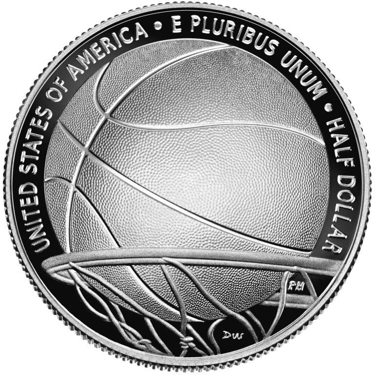 2020 Basketball Hall of Fame Commemorative Clad Half Dollar Proof Reverse